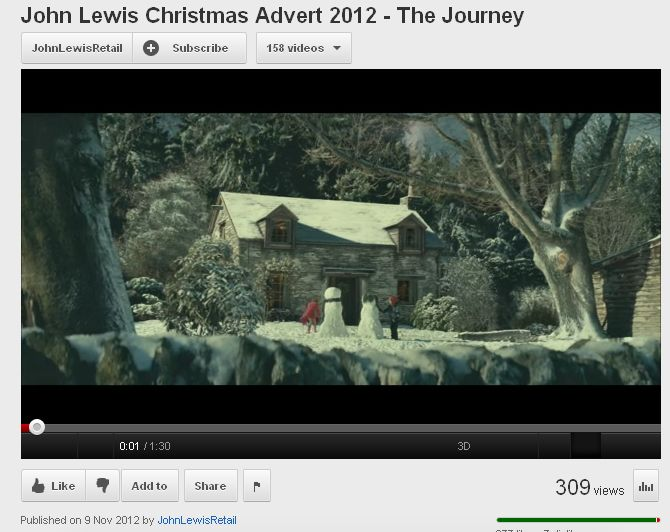 John Lewis Christmas Advert 2012.An Opportunity Missed For John Lewis This Christmas Interacter